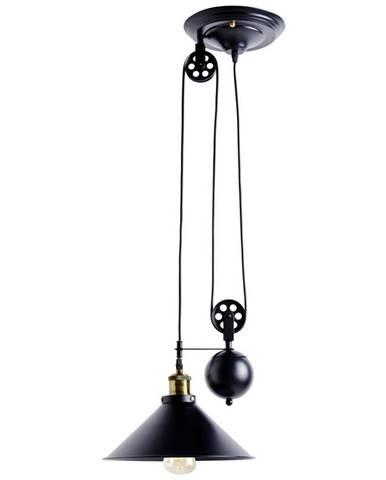 ZÁVĚSNÉ SVÍTIDLO, E27/60 W, 30/90-180 cm - černá