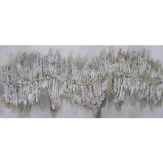 Monee OLEJOMALBA, abstraktní, 60/120 cm - barvy stříbra