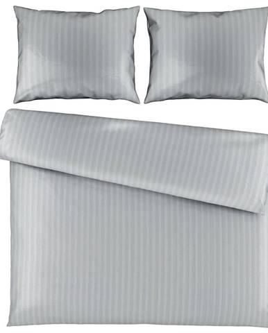 Ambiente POVLEČENÍ, satén, šedá, 200/200 cm - šedá