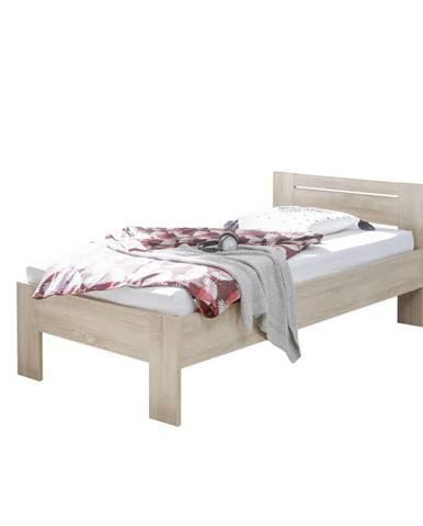 Carryhome POSTEL, 90/200 cm, kompozitní dřevo, Sonoma dub - Sonoma dub