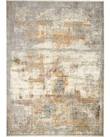 Dieter Knoll VINTAGE KOBEREC, 80/150 cm, barvy stříbra, curry žlutá - barvy stříbra, curry žlutá