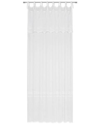 Landscape ZÁVĚS HOTOVÝ, poloprůhledné, 140/255 cm - bílá