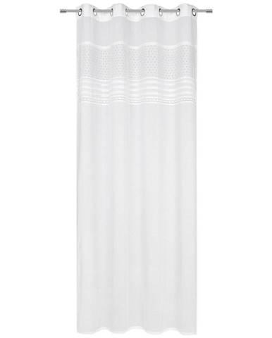 Landscape ZÁVĚS S KROUŽKY, poloprůhledné, 140/255 cm - bílá