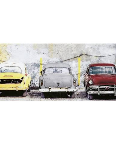 Monee OBRAZ NA SKLE, vozidla, 125/50 cm - vícebarevná