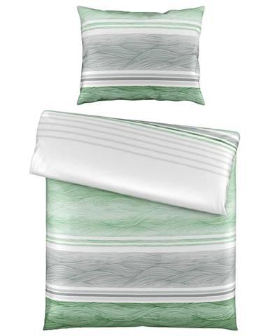 Novel POVLEČENÍ, satén, zelená, 140/200 cm - zelená