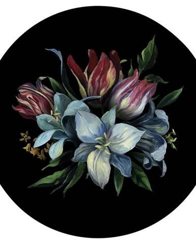OBRAZ NA SKLE, květiny, 30 cm - vícebarevná