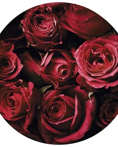 OBRAZ NA SKLE, květiny, 50 cm - vícebarevná
