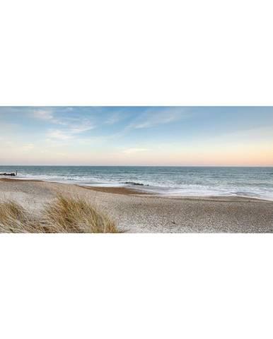 OBRAZ NA SKLE, pláž & moře, 30/80 cm - černá, bílá