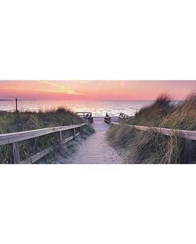 OBRAZ NA SKLE, pláž & moře, 33/98/1,40 cm - vícebarevná