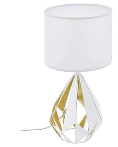 STOLNÍ LAMPA, E27, 25/51 cm - bílá, barvy zlata, medová