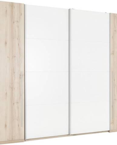 Ti`me ŠATNÍ SKŘÍŇ, bílá, barvy buku, 270/225/61 cm - bílá, barvy buku