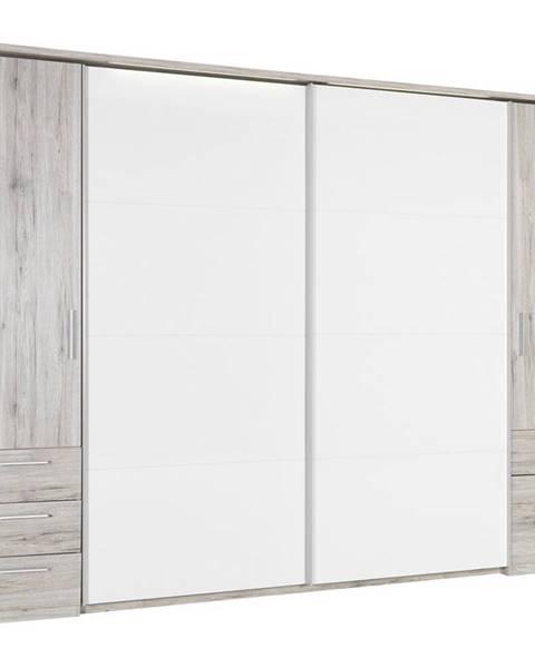 Xora Xora ŠATNÍ SKŘÍŇ, bílá, pískové barvy, 312/225/58 cm - bílá, pískové barvy