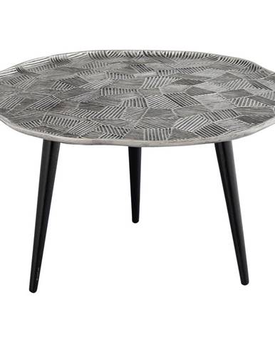 Ambia Home KONFERENČNÍ STOLEK, černá, barvy niklu, kov, 75/75/44 cm - černá, barvy niklu