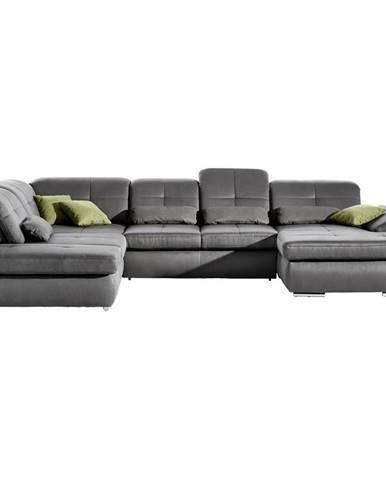 Beldomo Style SEDACÍ SOUPRAVA, textil, kompozitní dřevo, šedá - šedá