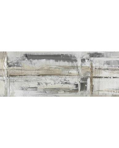 Monee OLEJOMALBA, abstraktní, 180/55 cm - šedá, bílá