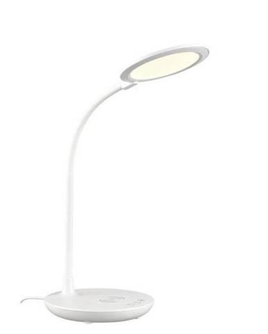 Novel STOLNÍ LED LAMPA, dotykový stmívač, 54 cm - bílá