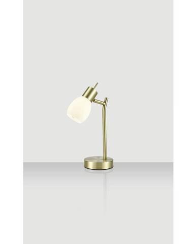 Xora STOLNÍ LAMPA, E14, 34,5 cm - bílá, barvy mosazi