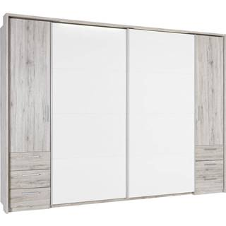 Xora ŠATNÍ SKŘÍŇ, bílá, pískové barvy, 312/225/58 cm - bílá, pískové barvy