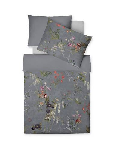 Fleuresse POVLEČENÍ, makosatén, antracitová, 140/200 cm - antracitová
