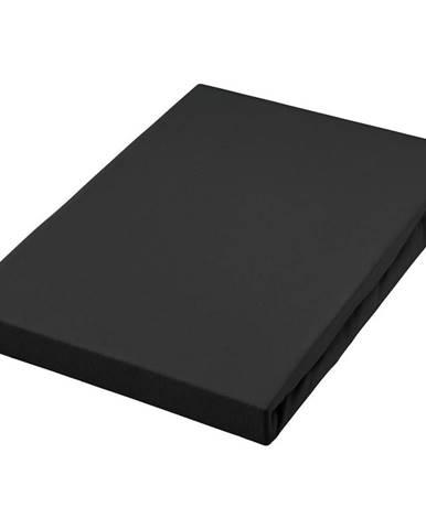 Fleuresse PROSTĚRADLO NAPÍNACÍ, žerzej, černá, 100/200 cm - černá