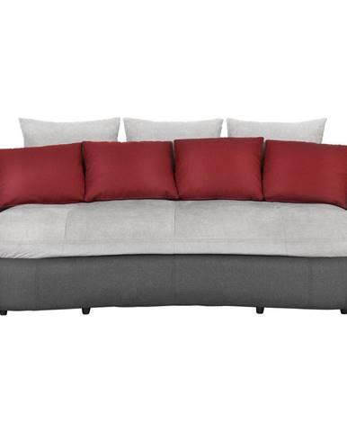Hom`in MEGA POHOVKA, textil, šedá, červená, černá - šedá, červená, černá