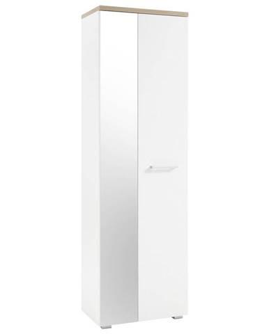 MID.YOU ŠATNÍ SKŘÍŇ, bílá, barvy dubu, 60/198/38 cm - bílá, barvy dubu