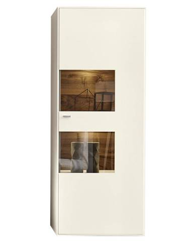 Moderano VITRÍNA, bílá, 76/198/41 cm - bílá