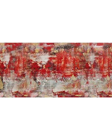 Monee OLEJOMALBA, abstraktní, 180/70 cm - žlutá, červená, černá, bílá