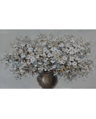 Monee OLEJOMALBA, květiny, 120/55 cm - modrá, hnědá, bílá