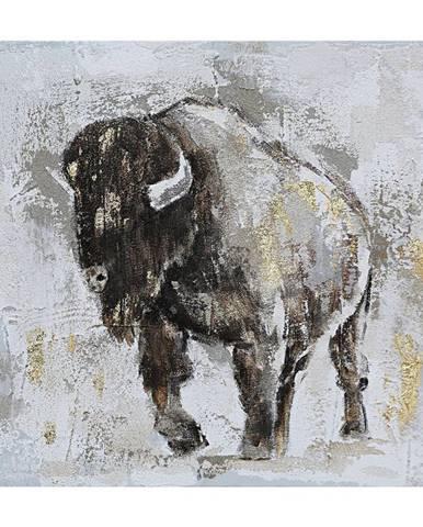 Monee OLEJOMALBA, zvířata, 55/55 cm - šedá, černá, barvy zlata, béžová