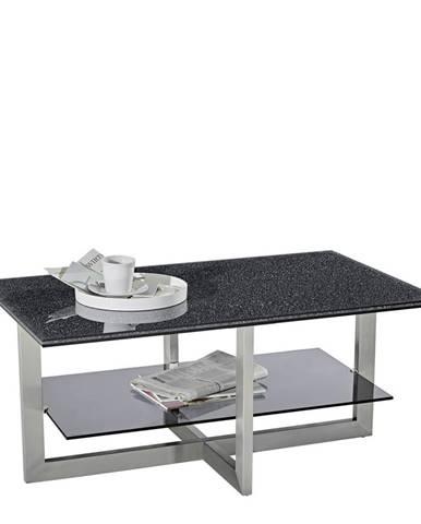 Novel KONFERENČNÍ STOLEK, černá, barvy hliníku, barvy nerez oceli, kov, sklo, 100/60/45 cm - černá, barvy hliníku, barvy nerez oceli