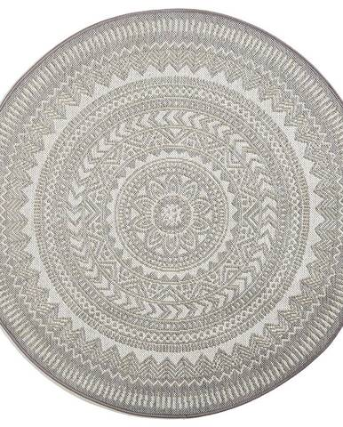 Novel VENKOVNÍ KOBEREC, 120 cm, barvy stříbra, bílá - barvy stříbra, bílá