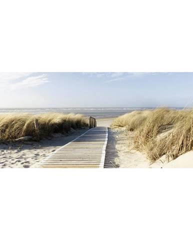 OBRAZ SKLENĚNÝ, pláž & moře, 50/125/1,40 cm - vícebarevná