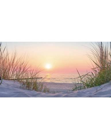 OBRAZ SKLENĚNÝ, pláž & moře, 50/125 cm - vícebarevná