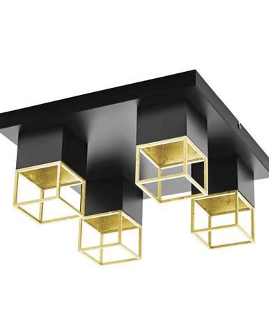 STROPNÍ LED SVÍTIDLO, 38/38/17 cm - černá, barvy zlata