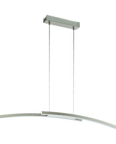 ZÁVĚSNÉ LED SVÍTIDLO, 105/10/120 cm - bílá, barvy niklu