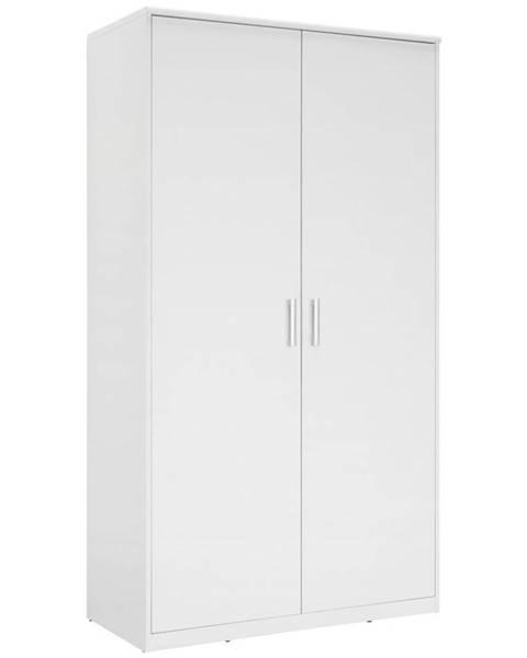 Xora Xora ŠATNÍ SKŘÍŇ, bílá, 106/194/54 cm - bílá