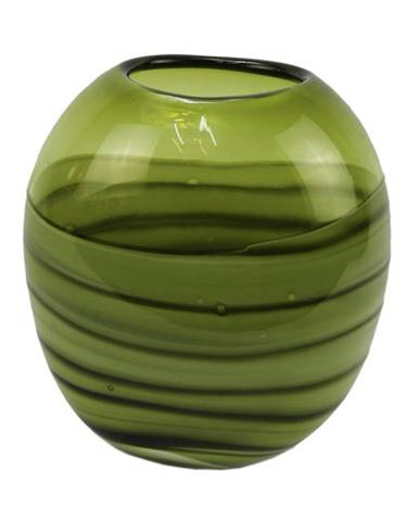 Ambia Home VÁZA, sklo, 22 cm - zelená