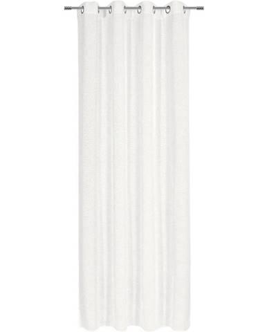 Esposa ZÁVĚS S KROUŽKY, poloprůhledné, 140/245 cm - přírodní barvy