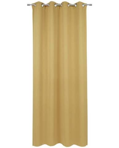 Esposa ZÁVĚS S OČKY, zatemnění, 140/245 cm - curry žlutá