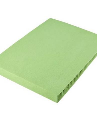 Fleuresse PROSTĚRADLO NAPÍNACÍ, žerzej, světle zelená, 100/200 cm - světle zelená