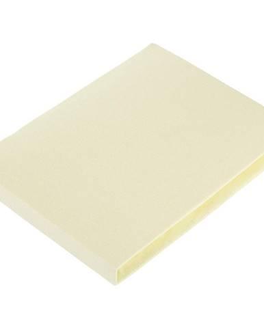 Fleuresse PROSTĚRADLO NAPÍNACÍ, žerzej, žlutá, 100/200 cm - žlutá
