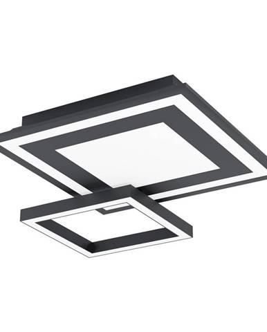 STROPNÍ LED SVÍTIDLO, 45/45/7 cm - černá, bílá