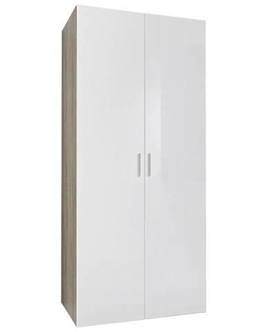 Xora ŠATNÍ SKŘÍŇ, bílá, barvy dubu, 80/185/54 cm - bílá, barvy dubu