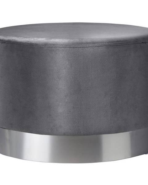 Xora Xora TABURET, kov, textil, 55/55/35 cm - šedá, barvy nerez oceli