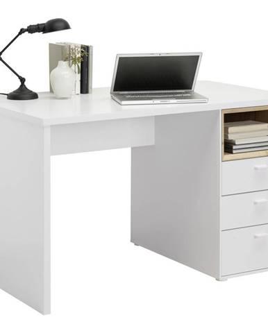 Hom`in PSACÍ STŮL, bílá, barvy dubu, 120/70/74 cm - bílá, barvy dubu