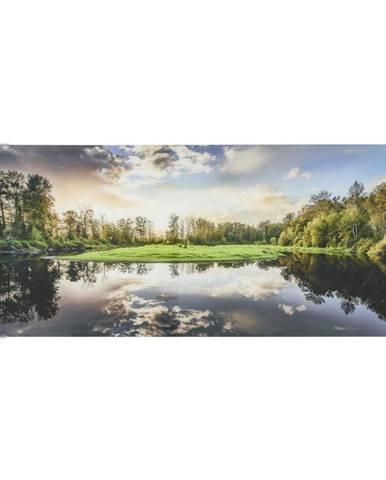 Monee OBRAZ SKLENĚNÝ, krajina & příroda, 125/50 cm - vícebarevná