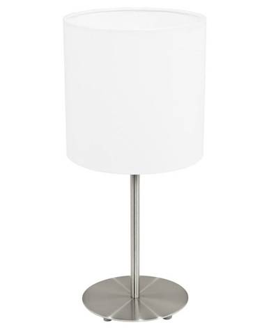 STOLNÍ LAMPA, 18/40 cm - bílá, barvy niklu