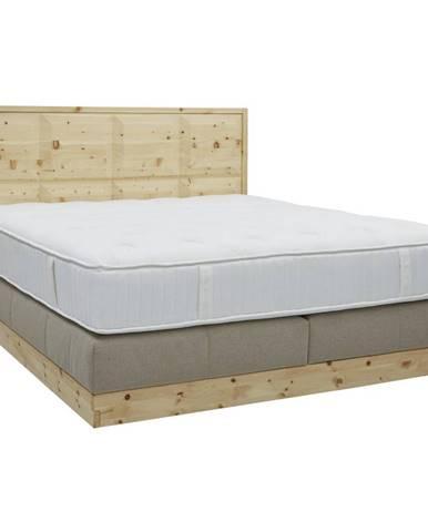 Valnatura POSTEL BOXSPRING, 180/200 cm, dřevo, textil, béžová - béžová