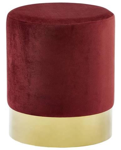 Xora TABURET, kov, textil, 35/35/42 cm - barvy zlata, bordeaux